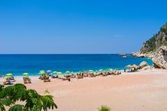 The sand beach Royalty Free Stock Photo