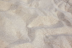 Sand beach. Desert mountain made of sand Royalty Free Stock Photo