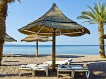 Sand beach of Eilat city, Israel Stock Photography