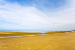 Sand beach of English Channel Royalty Free Stock Photos