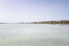 Sand beach of famous Elafonisi Royalty Free Stock Images