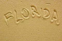 Sand beach of Florida Stock Photography