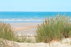 Sand beach in Formby, UK Stock Photos