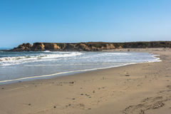 Sand beach at Fort Bragg, California Stock Photography