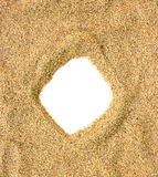 Sand beach frame Stock Images