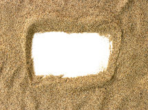 Sand beach frame Royalty Free Stock Photo