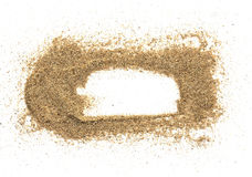 Sand beach frame Stock Images