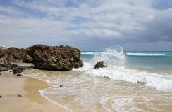 Sand beach on Fuerteventura Royalty Free Stock Photography