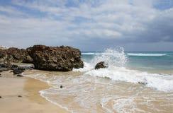 Sand beach on Fuerteventura Royalty Free Stock Photography