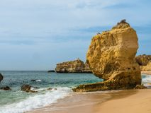 Sand beach at Gale, Portugal. Sand beach at Gale, district Algarve, Portugal Royalty Free Stock Photography