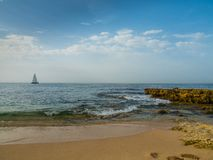 Sand beach at Gale, Portugal. Sand beach at Gale on the southern coast of Portugal Stock Image