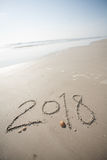 2018 in the Sand at the Beach Stock Photography