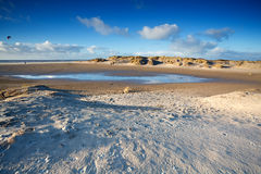 Sand beach in Ijmuiden by North sea Royalty Free Stock Photos