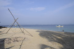 Sand beach in Kapas island in Malaysia Royalty Free Stock Photography