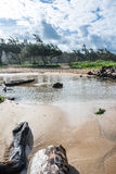 Sand beach in Kauai, Hawaii Royalty Free Stock Image