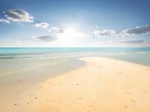 Sand beach in lagoon Royalty Free Stock Photo