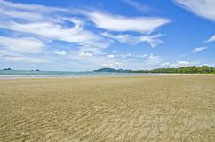 Sand and beach landscape. stock photo