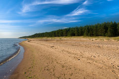 Sand beach in Latvia Stock Image