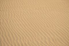 Sand of a beach with line pattern. Baltic sea royalty free stock images