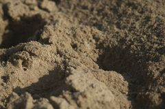 Sand on the beach. Is a macro shot Royalty Free Stock Photos