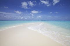 Sand Beach Maldives stock image