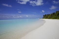 Sand Beach Maldives Royalty Free Stock Photography