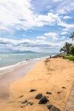 Sand beach in Maui, Hawaii Royalty Free Stock Photography