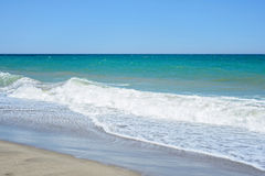 Sand of beach Mediterranean sea Stock Photo