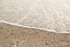 The sand at the beach in the morning royalty free stock photo