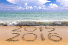 2016 sand beach Stock Images