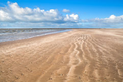 Sand beach by North sea Royalty Free Stock Images