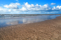 Sand beach by North sea Royalty Free Stock Photos