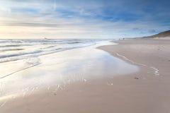 Sand beach on North sea Royalty Free Stock Photo