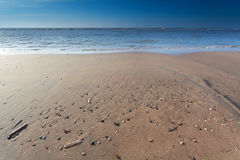 Sand beach on North sea at low tide Stock Photography
