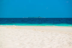 Sand beach and ocean wave, South Male Atoll. Maldives Royalty Free Stock Photography