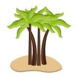sand with beach palms, graphic Stock Photos