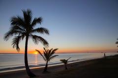 Sand Beach Paradise at Sunset Royalty Free Stock Photos