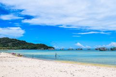 Sand beach in Phu Quoc close to Duong Dong, Vietnam. Stock Photography