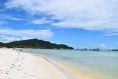 Sand beach in Phu Quoc close to Duong Dong, Vietnam. Royalty Free Stock Image