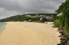 Sand beach by Saint Ives, Cornwall, England, UK Royalty Free Stock Images