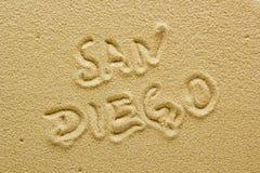 Sand beach of San Diego Stock Photography