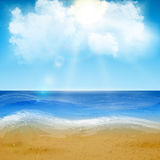 Sand of beach scene. Beautiful sand of beach scene background with great weather. Vector illustration royalty free illustration