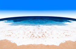 Sand of beach sea background Stock Images