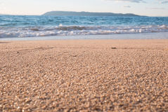 Sand beach and sea landscape Royalty Free Stock Image