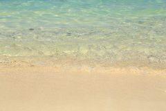 Sand beach and sea wave Royalty Free Stock Image