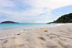Sand on beach at Similan island in Thailand Royalty Free Stock Photos