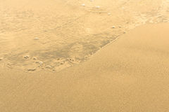 Sand beach with the soft wave. Nature. Royalty Free Stock Photos