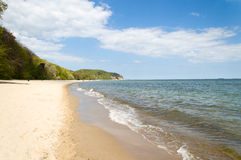Sand beach in Sopot, Poland Stock Images