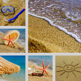 Sand Beach and Summer Sea Stock Images