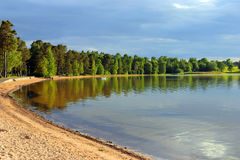 Sand beach in sweden Royalty Free Stock Photography